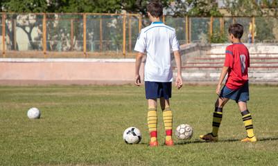 defocusing, training of children's football teams. equipment, football uniforms and balls.