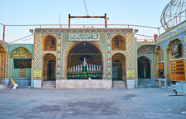 The courtyard of Hussainiya in Kerman, Iran