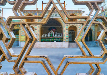 The view through the fence grille, Kerman, Iran