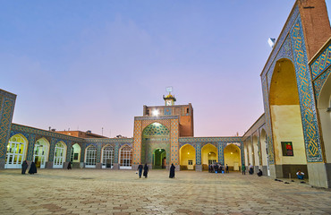 The courtyard of Jame Mozaffari Mosque, Kerman, Iran