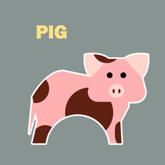 Farm animal pig simple