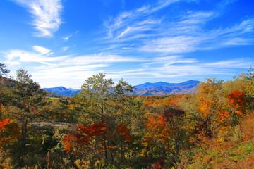 秋の母成グリーンラインからの眺め(福島県・猪苗代町)