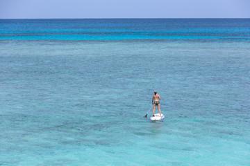 日本最南端、沖縄の波照間島、ニシ浜