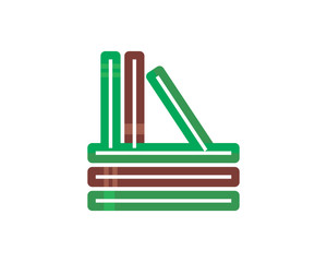 library book novel author bookstore knowledge encyclopedia document image vector icon logo