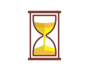 yellow hourglass sand time vintage image vector icon symbol logo