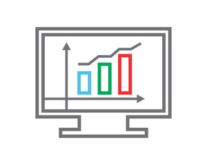 monitor chart business company office corporate image vector icon logo