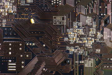 black hardware abstract electronic circuit board computer