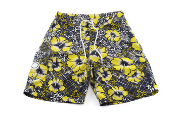 floral shorts isolated on white background Fototapete