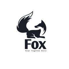 wake up fox logo with look back