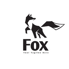 Stand fox logo with kick front up