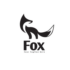 simple stand fox logo