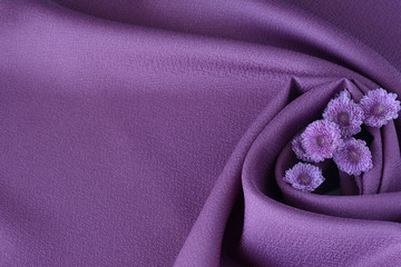 Purple clothes with flowers