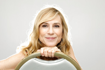 """Actress Holly Hunter poses for a portrait in promotion of the upcoming Disney-Pixar movie """"Incredibles 2"""" in West Hollywood, California"""