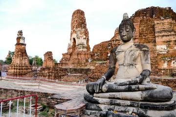Beautiful photo of Ayutthaya Wat Temple taken in thailand