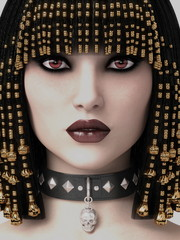 3D illustration Queen of Egypt