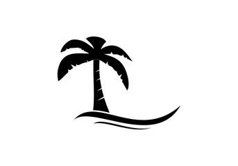 Summer beach silhouette logo