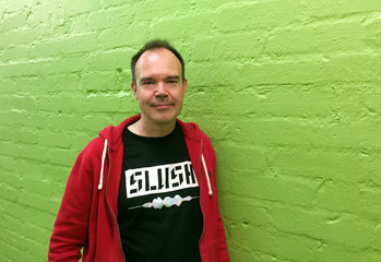 Former Angry Birds executive Vesterbacka poses for a picture in Helsinki