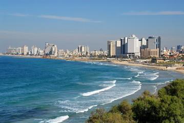 Israel. Panorama of Tel-Aviv in the evening
