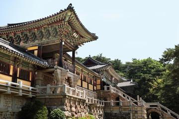 Korea bulguksa unesco traditional old buddhist temple