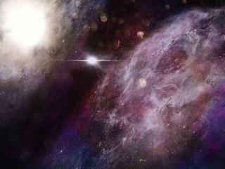 Space Galaxy Background with nebula