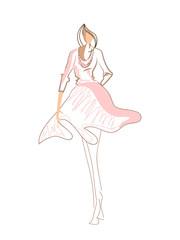 creative design illustration of a model or fashion model.