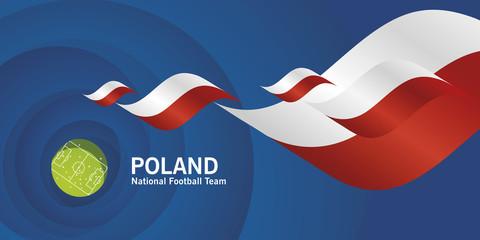 Poland flag soccer football team abstact stadium background