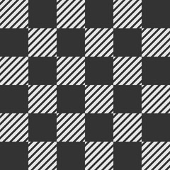 Abstract seamless pattern of striped squares.