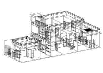 House Architect blueprint - isolated