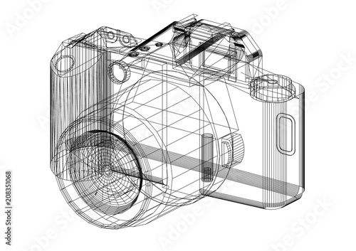 Digital camera architect blueprint isolated stock photo and digital camera architect blueprint isolated malvernweather Choice Image