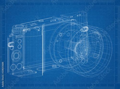 Digital camera architect blueprint stock photo and royalty free digital camera architect blueprint malvernweather Images
