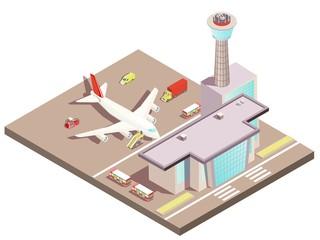 Airport Isometric Design Concept
