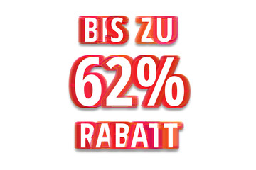 bis zu 62% Rabatt - weißer Hintergrund rote Schrift für Symbol / Schild