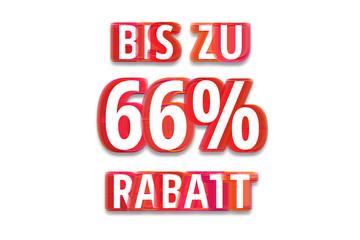 bis zu 66% Rabatt - weißer Hintergrund rote Schrift für Symbol / Schild