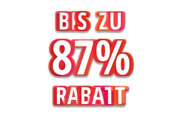 bis zu 87% Rabatt - weißer Hintergrund rote Schrift für Symbol / Schild