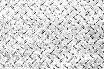 Silver diamond plate texture and background