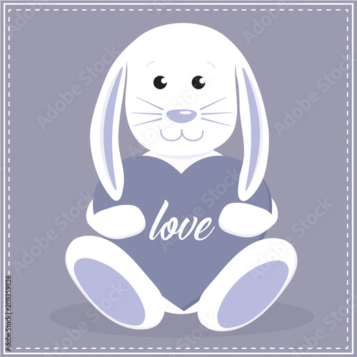 Cute Boy Baby Bunny Rabbit Easter Baby Shower Valentines Day Love