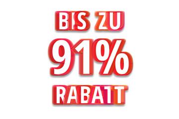 bis zu 91% Rabatt