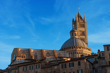Siena Cathedral and Houses - Tuscany Italy