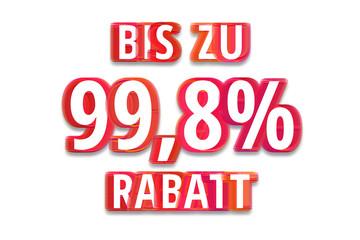 bis zu 99,8% Rabatt - weißer Hintergrund rote Schrift für Symbol / Schild