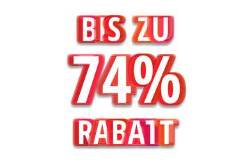 bis zu 74% Rabatt - weißer Hintergrund rote Schrift für Symbol / Schild