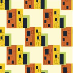 House pattern, urban modern bauhaus style