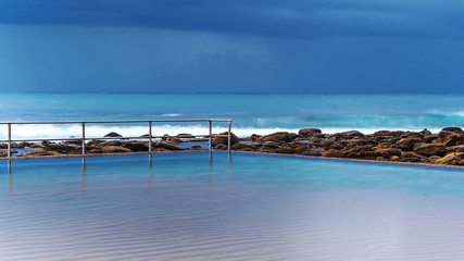 Stormy Sea Pool Seascape