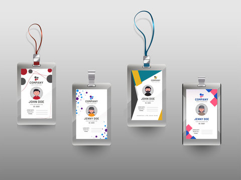 Colorful Identification Card Set.