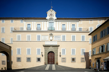 Castel Gandolfo - Apostolic Palace of Castel Gandolfo, the summer residence of the Popes. Lazio, Italy.