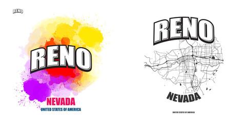 Reno, Nevada, two logo artworks