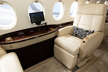 business jet interior seat