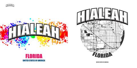 Hialeah, Florida, two logo artworks