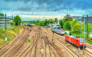 View of Aachen West railway station in Germany