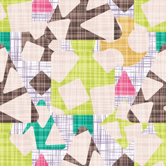 Seamless pattern background with rhombus, square, triangle and circle. Design textile vector illustration.