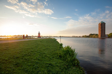 Lovely nature view on lake in Aalsmeer